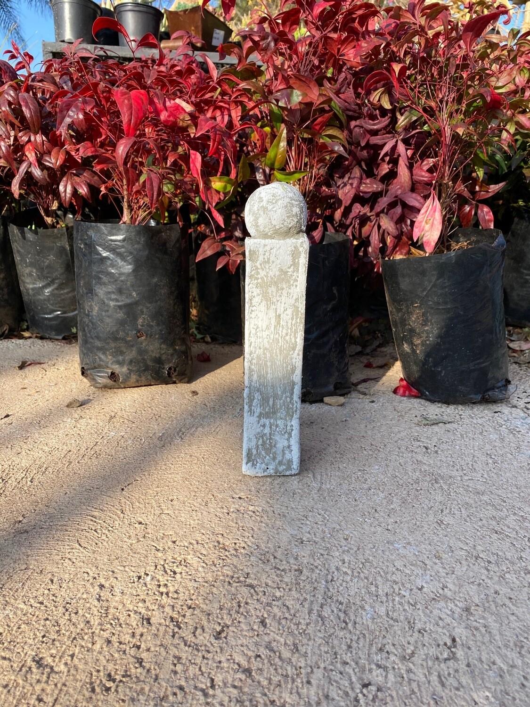 Rope Edging Pillar White Wash Finish H240mm   x 50mm thick 1.2kg