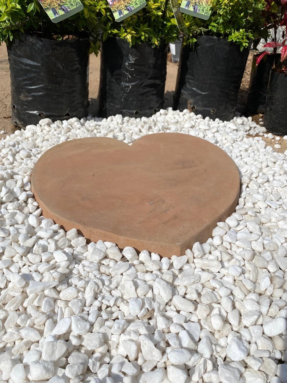 Heart Paver LARGE Soft Tan - 430x50mm - 14Kg
