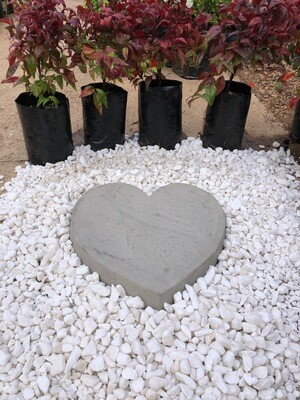 Heart Paver SMALL Cement - 345x50mm - 9kg