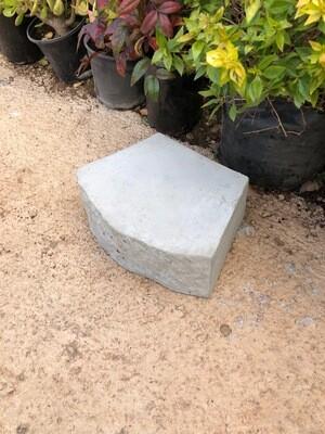 Fire Pit Stone Edging Plain Cement - 315x225x10mm - 13kg