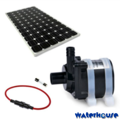 5m High Solar Water Pump, Fuse and Panel