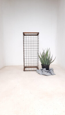 Wire Mesh Rock Planter Large H 750mm W 300mm   (excl rocks and plant)
