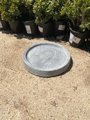 Drip Tray Small Round Whitewash Finish - W320mm - 4kg
