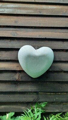 Heart Bowl Large Cement Finish - W310mm x L310mm - 3.5kg
