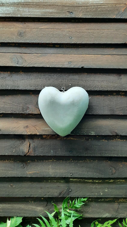 Heart Bowl Medium Cement Finish - W210mm x L210mm - 1kg