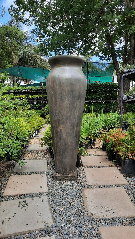 Nadia Vase Extra Large Weathered Grey Finish - Cement Base - H1900mm x W400mm - 70kg