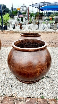 Africana Jeanne Pot Large Honeyclay Finish - H600mm x W450mm - 35kg