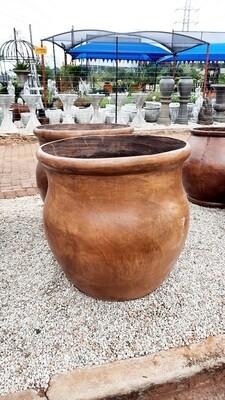 Fatso Flower Pot Large Honeyclay Finish - H640mm x W610mm - 48kg
