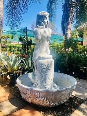 Marika Fountain Whitewash Finish - H1200mm
