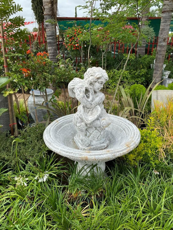 Kruik Puto Fountain Whitewash Finish - H1400mm