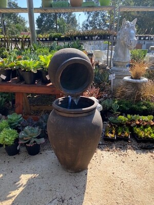 Turkish Jar Double Fountain Mecca Brown Finish exlc. pump - H1000mm x W440mm - 45kg