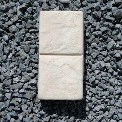 Double Cobble Plain Cement - 105x210x50mm - 1.8kg