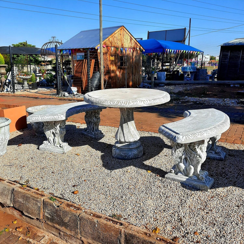 Corinth Table Set  - 8 piece - W1000mm - 295kg