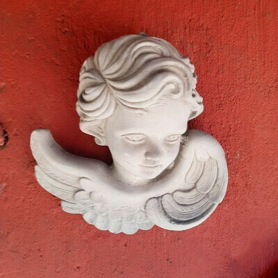 Angel Face Wall Plaque (Left) - W220mm x H200mm