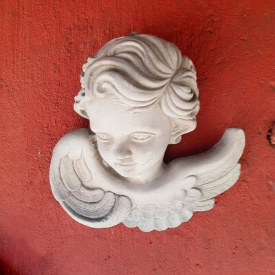 Angel Face Wall Plaque (Right) - W220mm x H200mm