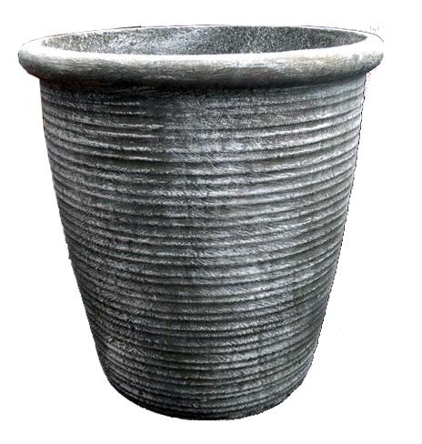 Louvre Pot Large Whitewash Finish - H480mm x W440mm - 18kg