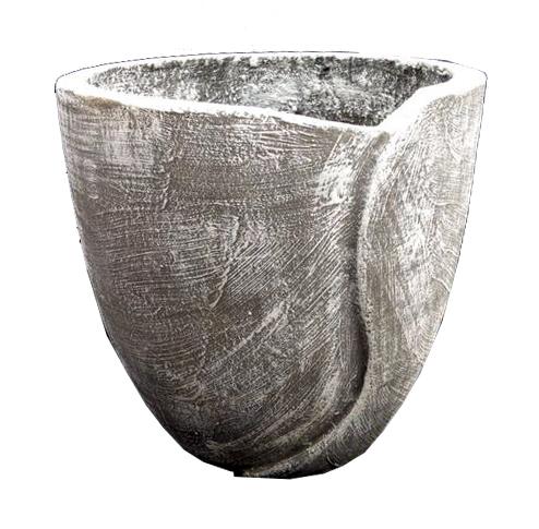 Leaf Pot Medium Whitewash Finish - H300mm - 8kg