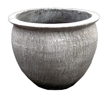 Andries Pot Round Large Whitewash Finish - H4000mm - 19kg