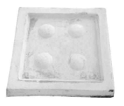 Drip Tray Medium Square Whitewash Finish - W440mm x L440mm - 17kg