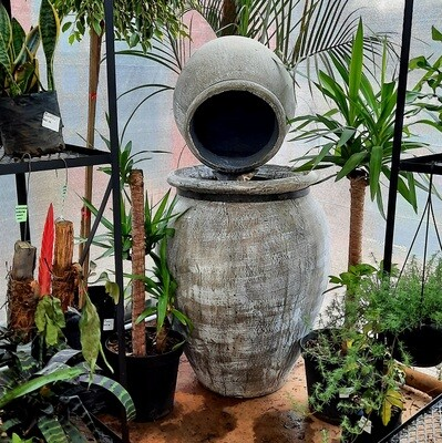 Sebastian Fountain Extra Large Whitewash Finish - H1500mm x W680mm with Tubing excluding pump - 93kg