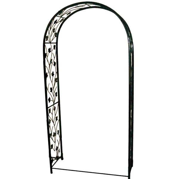 Black Steel Garden Arch With Grape Leafs - H2m x W1m