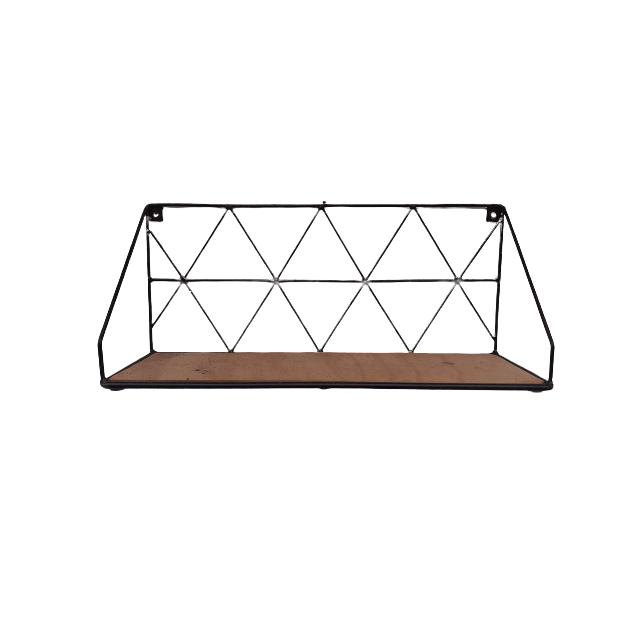 Black Steel Wall Rack - 60x20x26.5cm