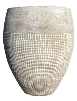 Anja Pot Small Whitewash Finish - H370mm x W290mm - 8kg
