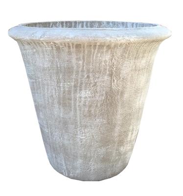 One Ring Pot Medium Whitewash Finish - H380mm - 11kg
