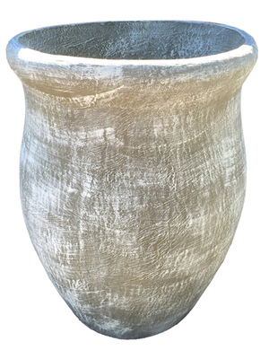 Fatso Flower Pot Medium Whitewash Finish - H500mm x W470mm - 23kg