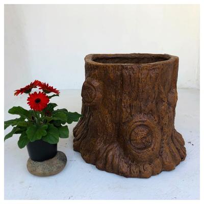 Upright Log Planter No Holes Honeyclay Finish - L580mm x W480mm x H220mm - 15kg