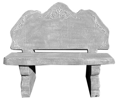 Lace Garden Bench - 4 Piece - L1200mm x W460mm x H600mm - 325kg