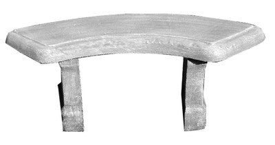 Classic Curved Bench  - 3 Piece - L1308mm x W440mm - 107kg