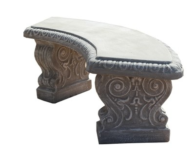Scroll Curved Bench - 3 Piece - W1306mm x H440mm - 123kg