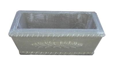Fern Rectangular Pot Medium Whitewash Finish - Length 804mm - 28kg