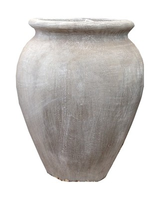 Turkish Jar Small Whitewash Finish - H420mm - 12kg