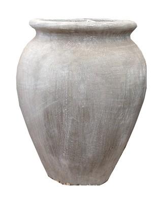 Turkish Jar Medium Whitewash Finish  - H480mm - 16kg