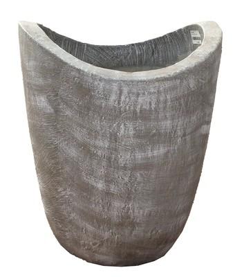 Zip Vase Small Whitewash Finish - H334mm - 12kg