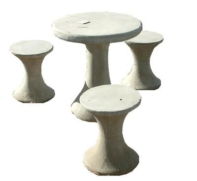 Kiddies Mushroom Set - 4 Piece - Table H670mm x W600mm - 210kg