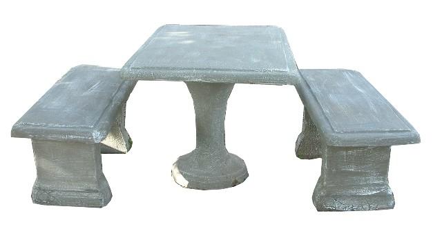 Classic Square Table Set - 8 Piece - L1300mm x H720mm - 559kg