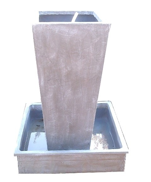 Square Slim Pot Lid Fountain Medium