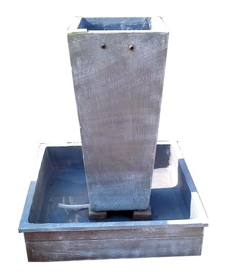 Square Pot Pipe Fountain