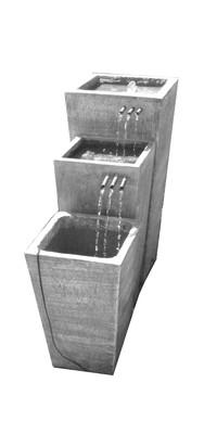 Tripple Slim Pot Copper Pipe Fountain X-Large