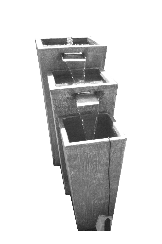 Tripple Slim Pot Zinc Fountain Large