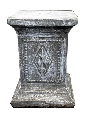 Diamond Square Pedestal Whitewash Finish - 86kg