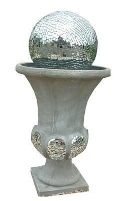 Joshua Urn Ball Fountain Large Mirror Mosaic