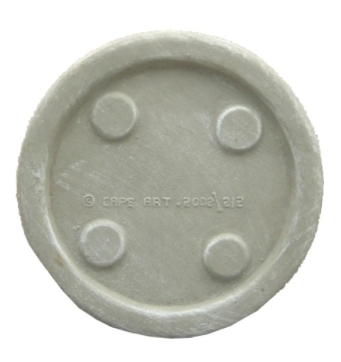 Drip Tray X-Large Round Whitewash Finish - W570mm - 25kg