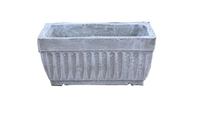 Window Pot Medium Whitewash Finish - L450mm x W150mm - 9kg