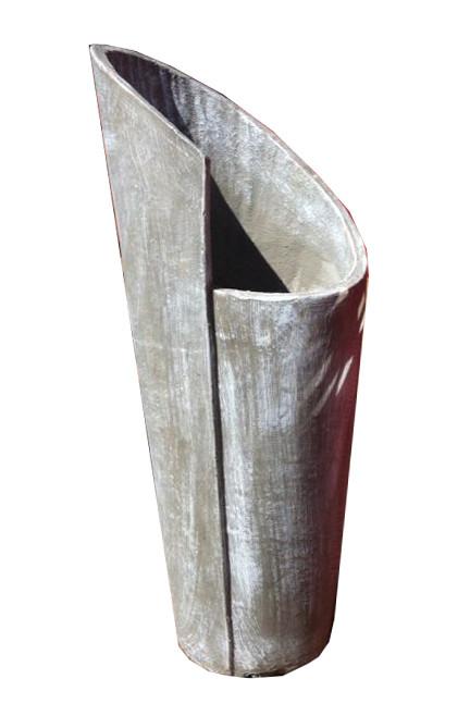 Valery Vase Medium Whitewash Finish - H690mm - 13kg