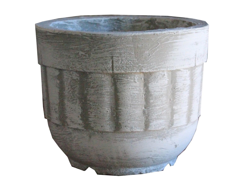 Succulent Pot Whitewash Finish - H180mm - 3kg