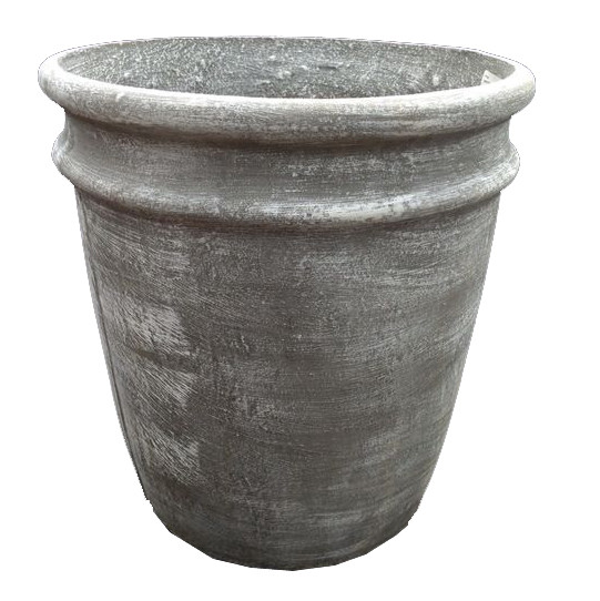 2 Ring Pot Extra Large Whitewash Finish - H600mm x W590mm - 33kg